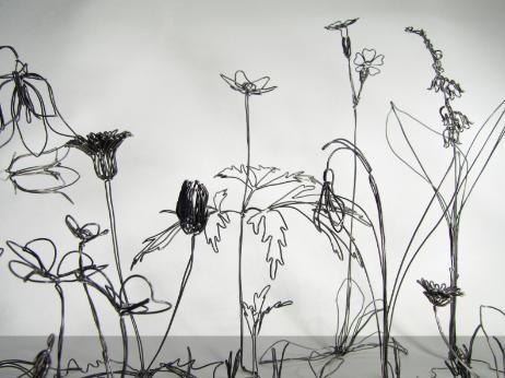 flowers + wire + art