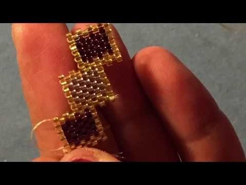 Miyuki Peyote Stitch, Peyote dikiş ( merdiven desen) - YouTube