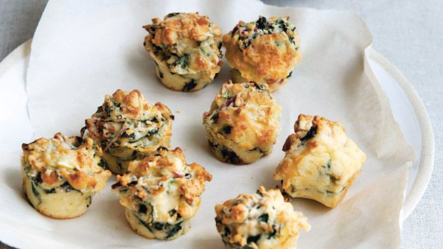 chard and brie muffins