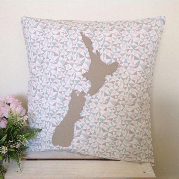 Cushion Cover Geometric Triangles Fabric by natandalicreative