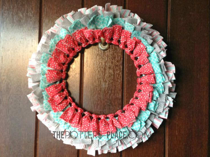 DIY Valentine's Wreath! Or switch out the colors for any time of year!