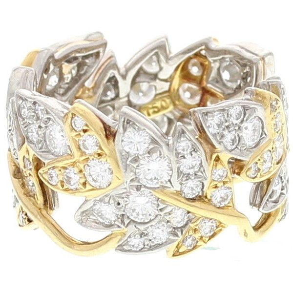 d8325001c Schlumberger Four Leaves 18k Yellow Gold... ($7,999) ❤ liked on Polyvore  featuring jewelry, rings, yellow gold, 18k… | Polyvore