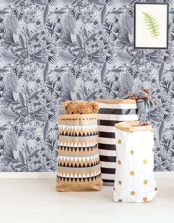 Daliah Removable Fantasy Flower And Plant 4 17 L X 25 W Peel And Stick Wallpaper Roll Peel And Stick Wallpaper Wallpaper Roll Removable Wallpaper
