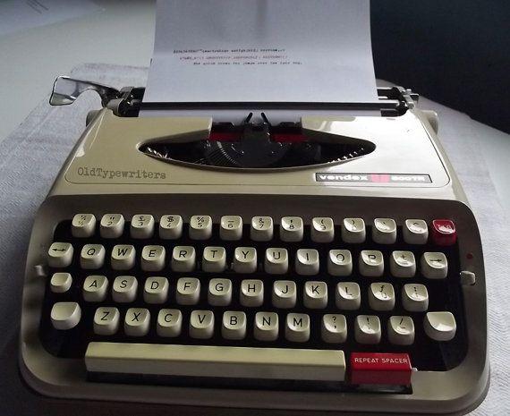 Vintage Beautiful Grey/Cafe au lait Manual by OldTypewriters