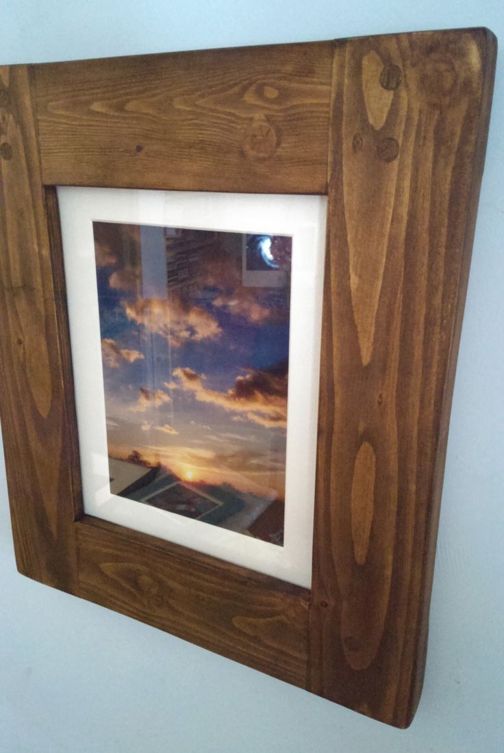 Any size made #rustic #picture #photo #frame in #eco-friendly #solid #wood available on #Etsy #UK prices from £14, designed by Marc and #handmade by our small team at #MarcWoodJoinery #Somerset #UK #custom sizes on request. #design #country #green #traditional #craft #home #living #slow #style #eco  #industrial  #interiordesign #supplies #chunky #grain #knots #house #dining #hall #frames #cottage #farmhouse #wooden #ideas '#decor #art #reclaimed #gifts #chunky #shop