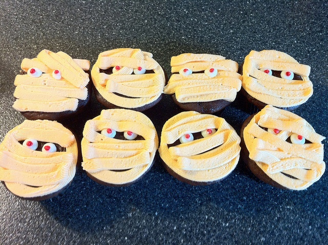 mummy cupcakes by beaumontpete, via Flickr