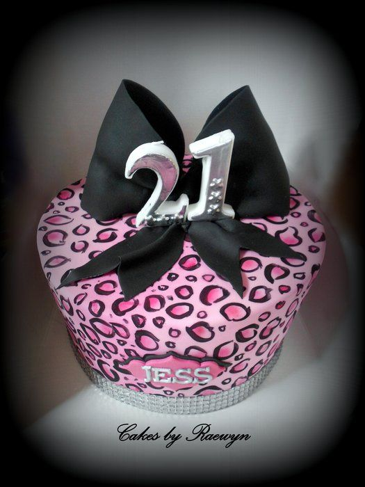 Hand Painted Leopard print Cake and Tutorial  CakesbyRaewyn  http://www.facebook.com/pages/CakesbyRaewyn/205607579476102