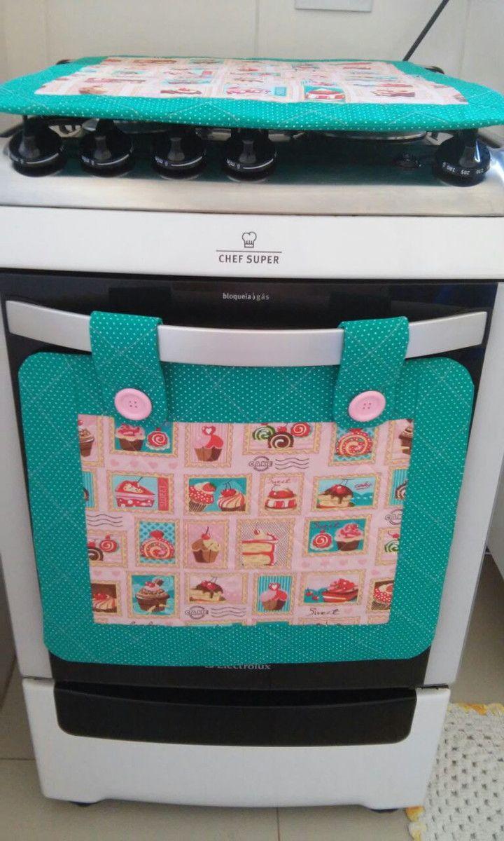 Panô de forno e Capa para Fogão.  Deixe seu fogão personalizado com esse Kit, podemos fazer outras estampas!