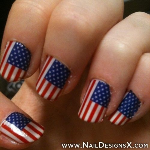 american flag nail art perfect for forth of july - Best 25+ American Flag Nails Ideas On Pinterest July 4th Nails