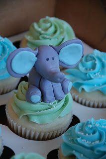 Angela Barton's Cakes: Elephant Baby Shower Cupcakes
