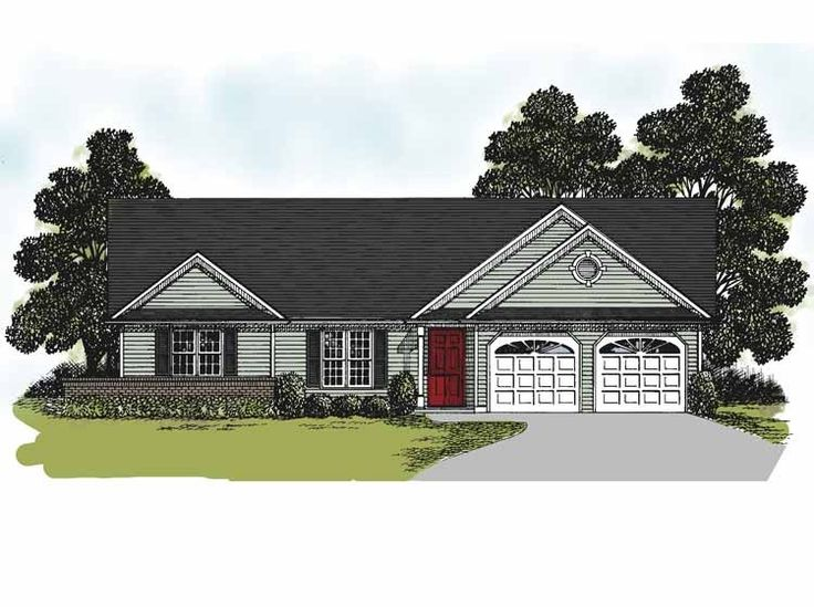 Eplans Ranch House Plan Traditional Style Ranch Home