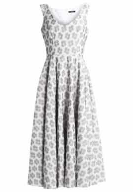 Макси платье - цвет слоновой кости / черное