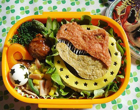 Dinosaur Bento - something for the boys that doesn't scream cute