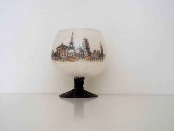 Candle Holder Drawing some Beautiful Countries by KyriakisAtelier