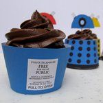 printable Tardis Cupcake Wrapper by ~F-A on deviantART - I'm doing the Dalek cupcakes for a #Doctor Who party.