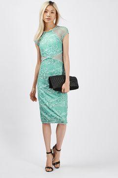 Fishnet Lace Midi Dress