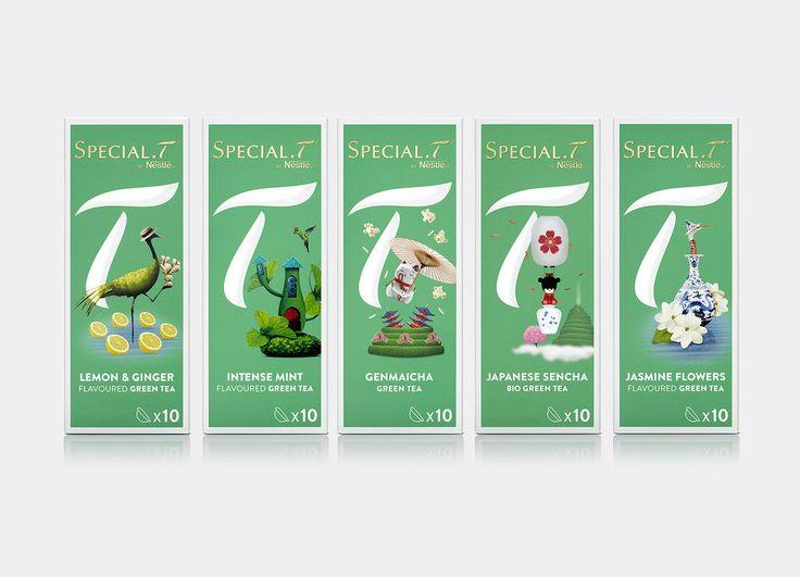 SPECIAL.T Nestlé Premium Tea Capsule Brand — The Dieline - Branding & Packaging Design