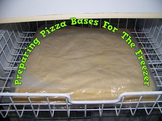 A Pretty Talent Blog: Preparing Pizza Bases To Freeze For Later Use