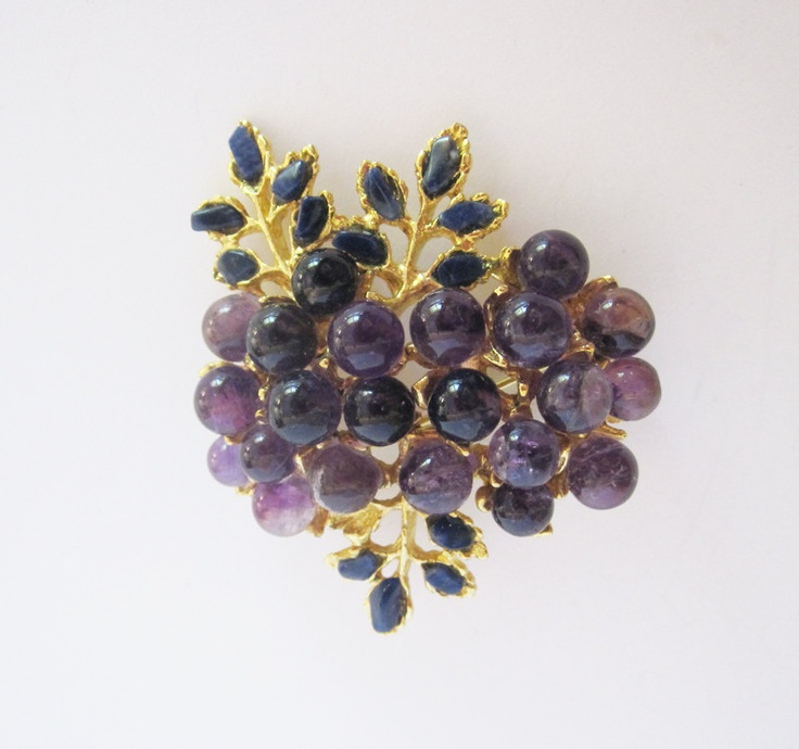 Swoboda Vintage Gemstone Brooch