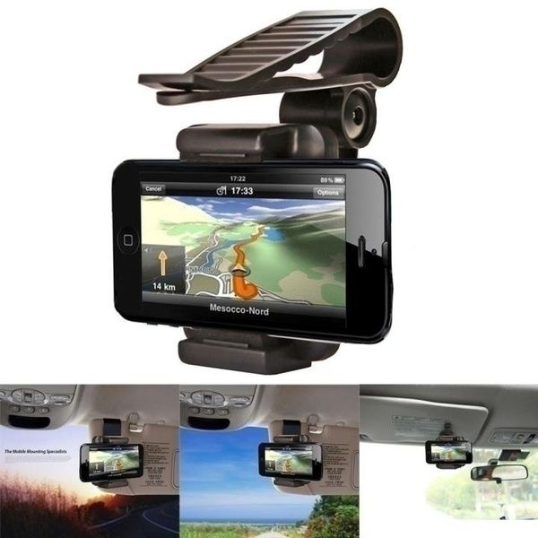 Useful Clamp Motorcycle Accessory Phone GPS Mounting Holder Rearview Side Mirror