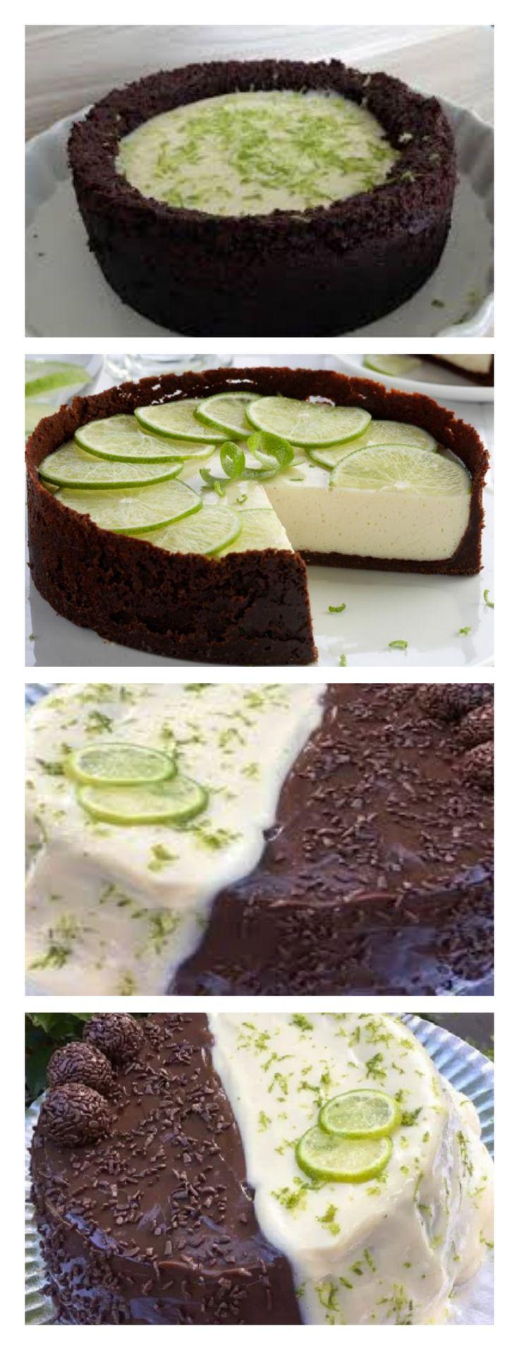Bolo Duo de Limão com Chocolate salve este pin #bolo#torta#doce#sobremesa#aniversario#pudim#mousse#pave#Cheesecake#chocolate#receita#confeitaria#casamento