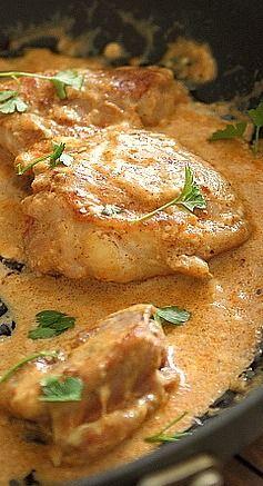 Five Spice Cream Cheese Chicken by runningtothekitchen #Chicken #Five_Spice