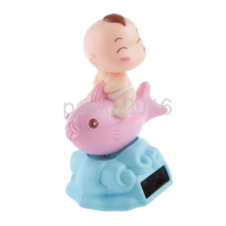 Solar Powered Dancing Flip Flap Car Home Dancer Bobble Toy Pink Fish