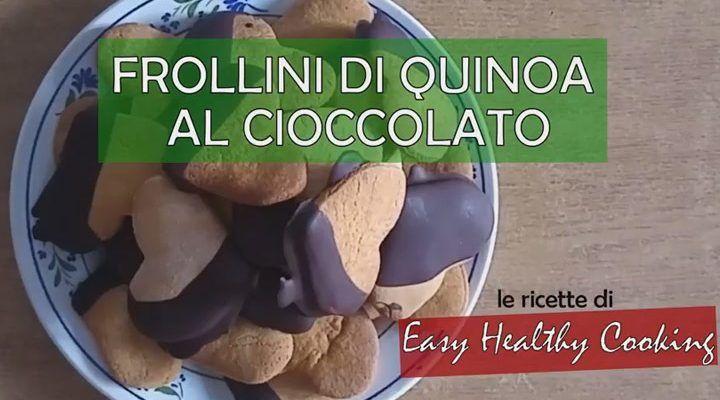 Frollini di quinoa al cioccolato, senza glutine e senza latticini