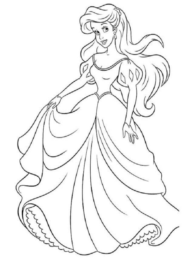 Dibujos De Princesas Para Colorear Dibujos Para Colorear Coloreartv Com Colorear Princesas Princesas Para Colorear Colorear Princesas Disney