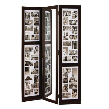"Preston Floor Triple Panel Collage(42-4x6, 2-4x4) and Mirror, 42""x65""   Walmart.ca"