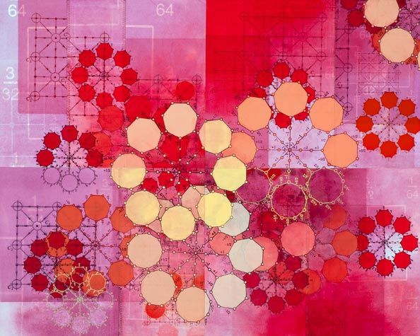 Amanda Knowles. Partial List II, 2011. Mixed Media on Paper. 22 x 27-1/2 inches unframed.
