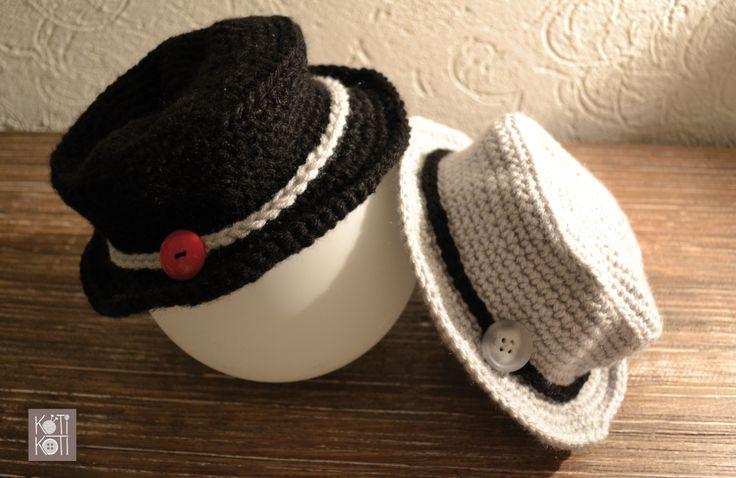 sombreritos bebé, tejidos a mano