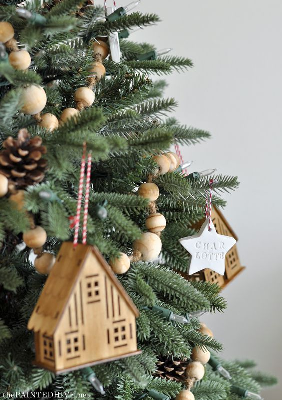 Natural And Neutral With Images Christmas Tree Garland