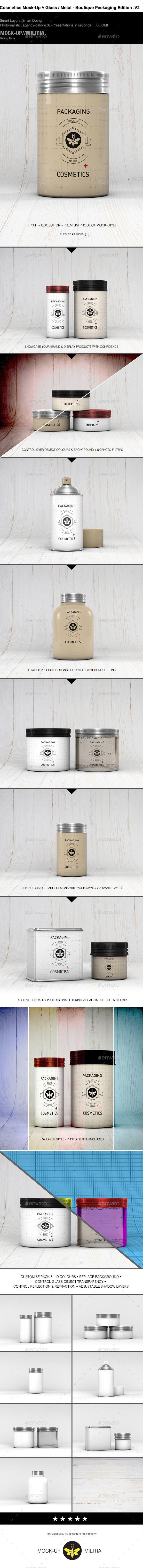 Cosmetics | Grooming Kit | Toiletries | Mock-Up | 2 - Beauty Packaging