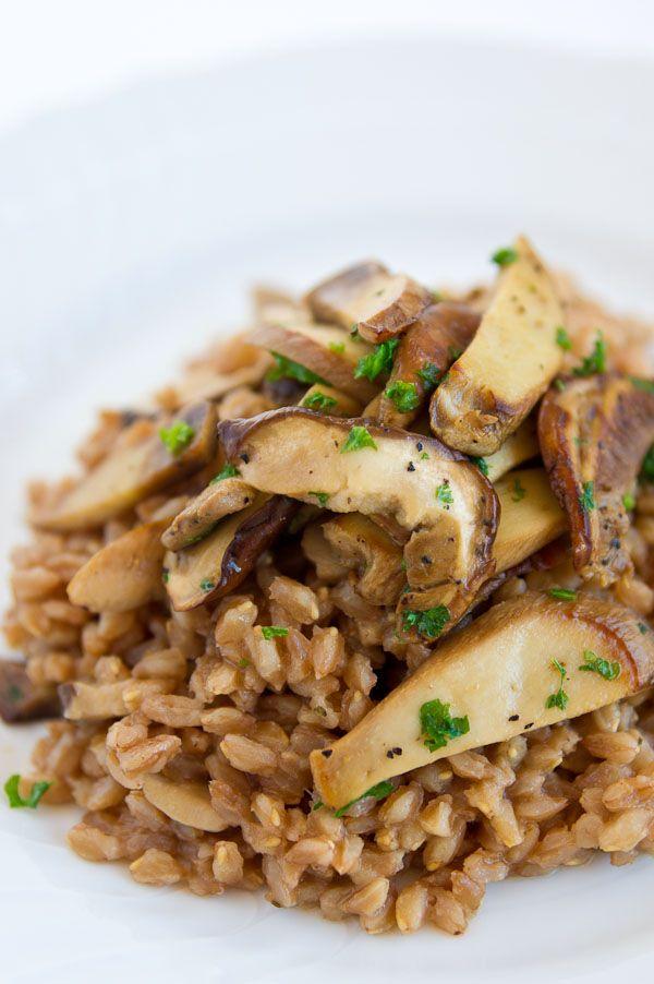 Recipe: Farro and Porcini Mushrooms (Farro Con Funghi)