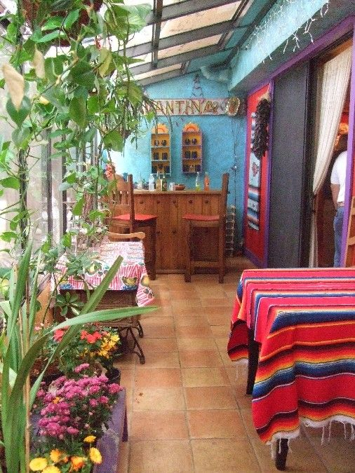 478 best mexican patio images on pinterest haciendas for Mexican porch designs
