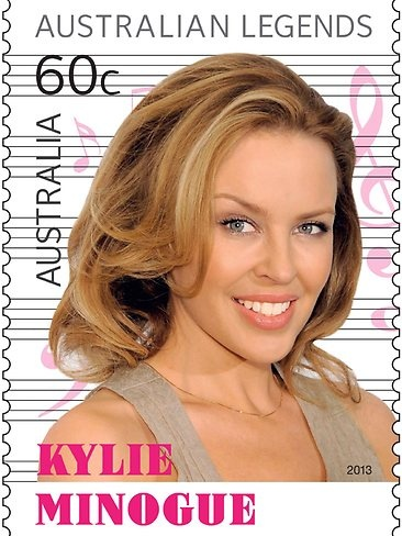 Kylie on a stamp (Australia Post)