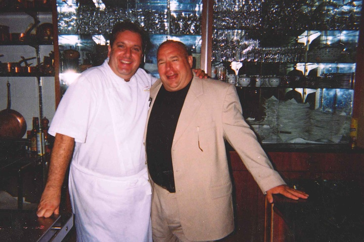 Chef Jim with Chef Roberto Donna at his restaurant, Galileo, in Washington D.C.