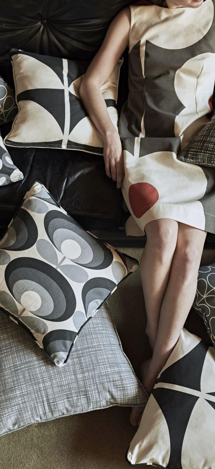 Available in a range of traditional and contemporary colours, these Orla Kiely fabric designs are the perfect finishing touch to any interior.