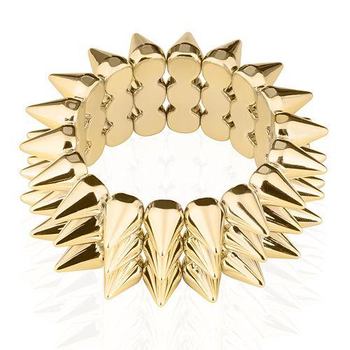 Stylisches Damen Stachel Armband mit Spikes elastisch