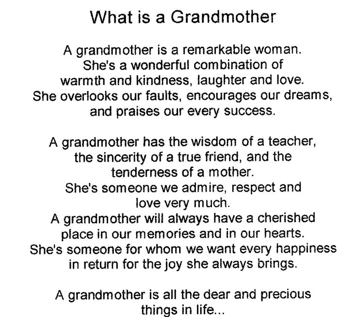 Poem For A Grandmother On Her Birthday