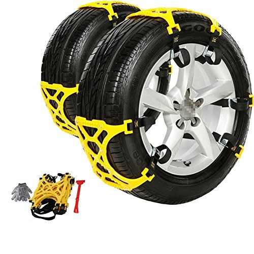 Auxmart Snow Tire Chains/Anti-Slip Car Snow Chains Adjustable Tire Snow Chains for Car/SUV/Truck. For product info go to:  https://www.caraccessoriesonlinemarket.com/auxmart-snow-tire-chainsanti-slip-car-snow-chains-adjustable-tire-snow-chains-for-carsuvtruck/