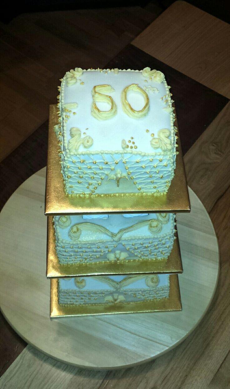 50th wedding cake.
