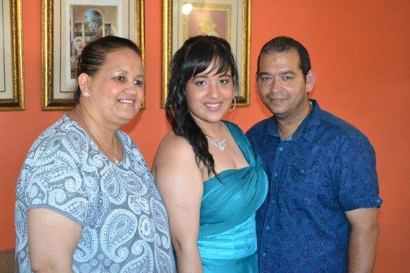 My sis Portia and husband Deon...proud parents