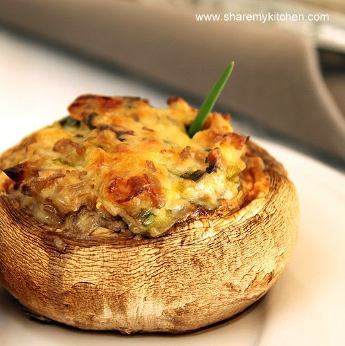 Searching for stuffed mushroom recipes for dinner, and making my first ...