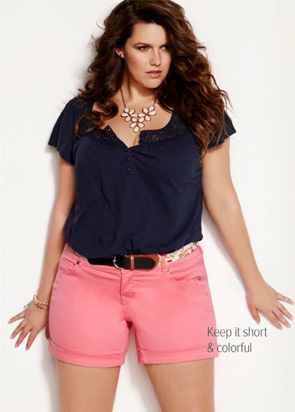 love the outfit..just wish the shorts were longer...#biggirlproblems#curves