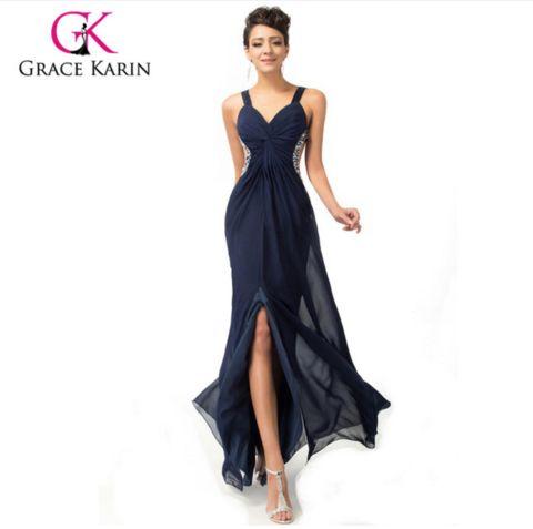 2016 Grace Karin Backless Split Ball Gown