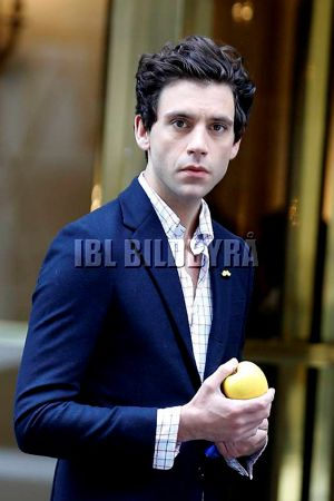 Mika is seen leaving the Bristol Hotel in Paris, France on April 3, 2014