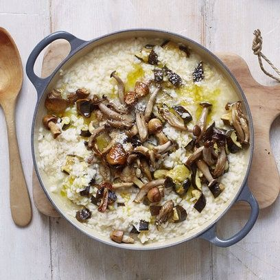 Gordon Ramsays Vegatarian Courgette and Mushroom Risotto yummmm!!