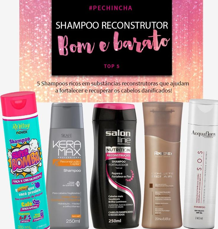 Tá procurando shampoo reconstrutor bom e barato para cabelos com luzes, progressiva e fragilizados? Mostrei as 5 melhores opções do mercado!